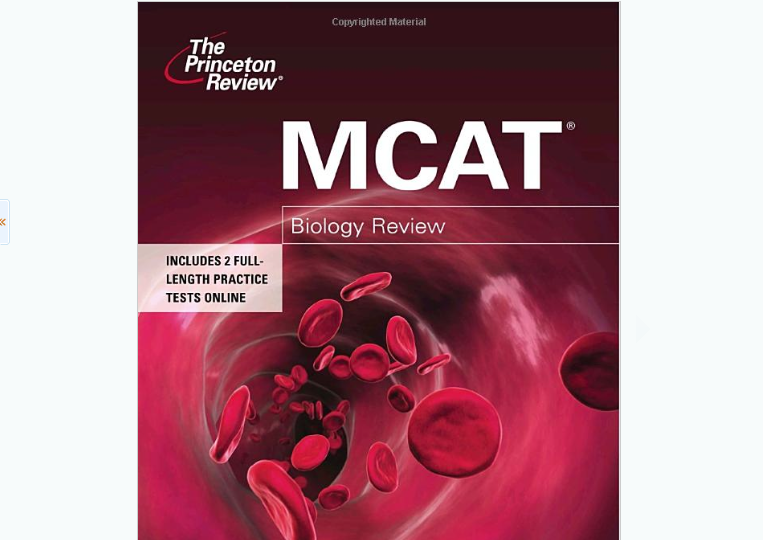 Princeton Review MCAT Review Books 2010