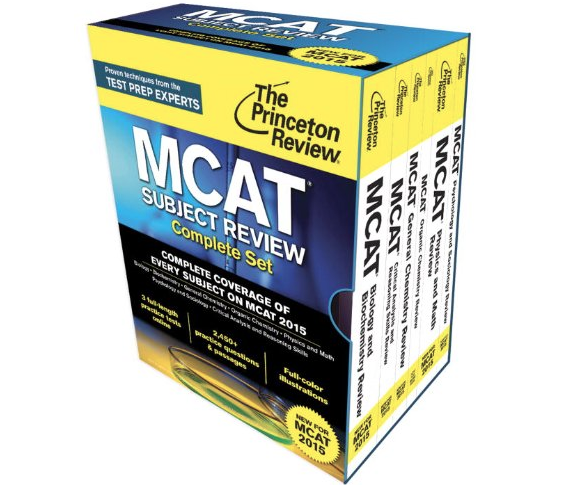 Princeton Review MCAT Subject Complete Set New For 2016