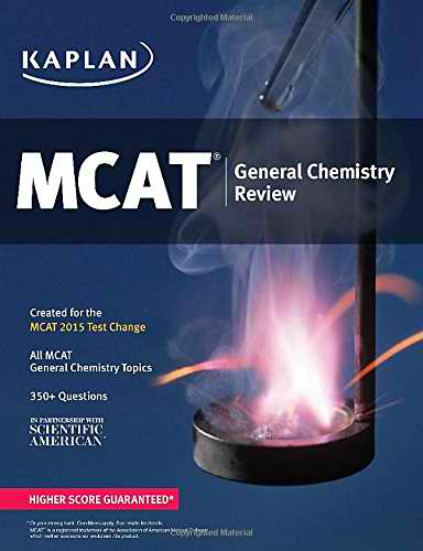 Best MCAT Chemistry Book: Kaplan MCAT General Chemistry Review - Created for MCAT 2015